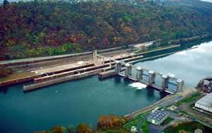 Charleroi lock and dam