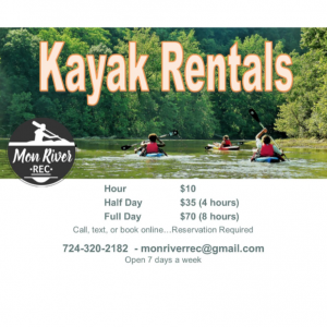 Rent A Kayak At Point Marion With Mon River Rec