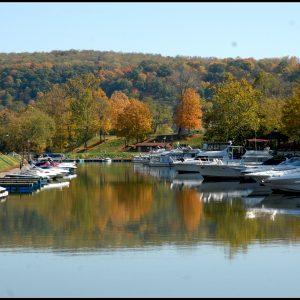 Mon River Town Fredericktown Fall