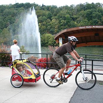 Family bikes on Caperton Trail