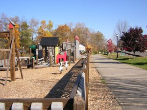 Trail and Playground in Star City by the riverfront