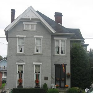 The Edward G. Acheson House is located west of Monongahela's town center. The house was the home of inventor Edward G. Acheson.