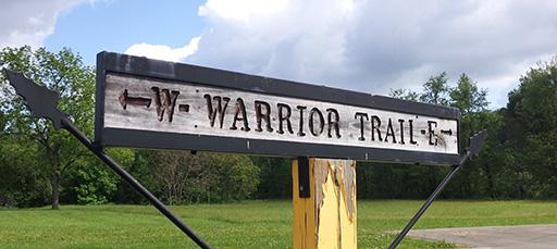 Warrior Trail Sign