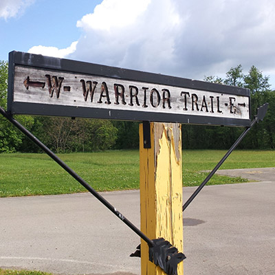Warrior Trail Sign