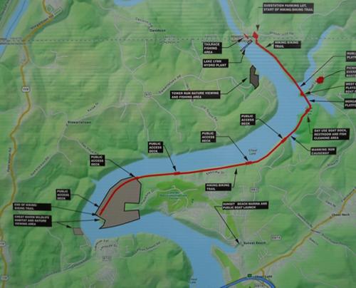 Cheat Lake Trail Map